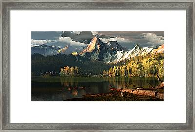 Beneath The Gilded Crowns Framed Print by Dieter Carlton