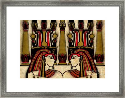 Beneath The Golden Columns Framed Print by Wbk