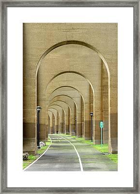 Beneath The Hellgate Framed Print