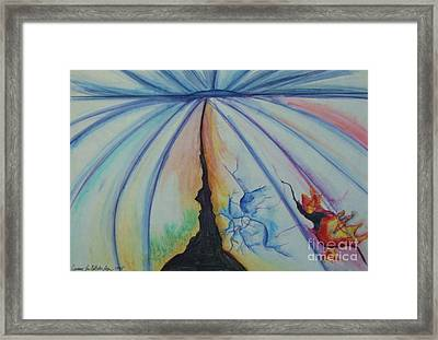 Beneath The Landscape Framed Print by Jamey Balester