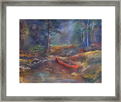 Beneath The Old Ga Pine Framed Print by Tim Ford