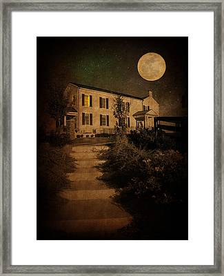 Beneath The Perigree Moon Framed Print by Amy Tyler