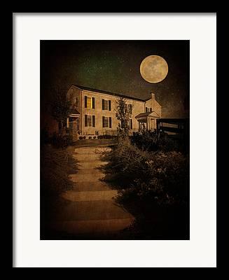 Perigee Moon Framed Prints