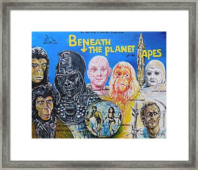 Beneath The Planet Of The Apes - 1970 Lobby Card That Never Was Framed Print