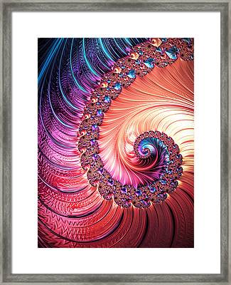 Beneath The Sea Spiral Framed Print