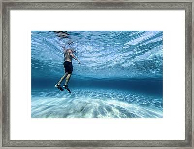Beneath The Surface. Framed Print