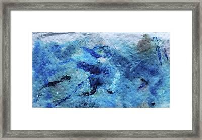 Beneath The Waves Framed Print