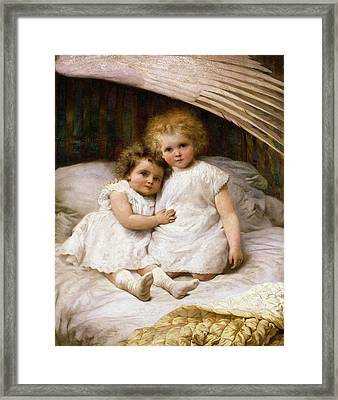 Beneath The Wing Of An Angel Framed Print by William Strutt