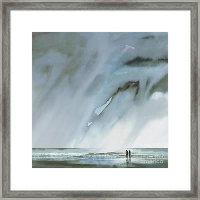 Beneath Turbulent Skies Framed Print by Paul Davenport
