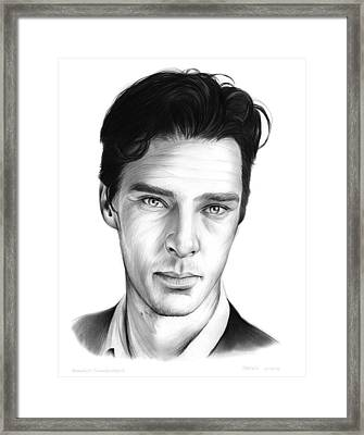 Benedict Cumberbatch Framed Print by Greg Joens