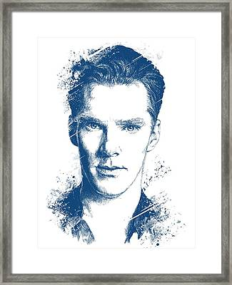Benedict Cumberbatch Portrait Framed Print by Chad Lonius