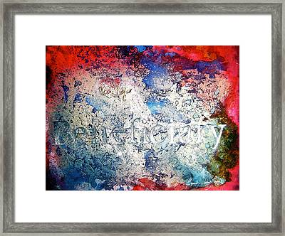 Beneficiary Framed Print