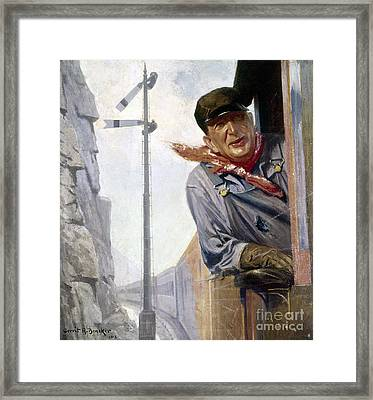 Beneker: The Engineer, 1913 Framed Print by Granger