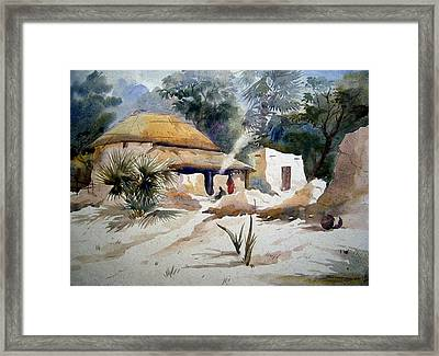 Bengal Village Framed Print by Samiran Sarkar