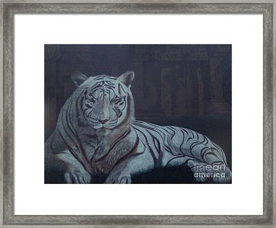Framed Print featuring the painting Bengala Tiger by Fanny Diaz
