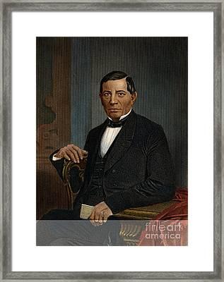 Benito Juarez (1806-1872) Framed Print by Granger