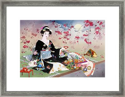 Benizakura Framed Print by Haruyo Morita