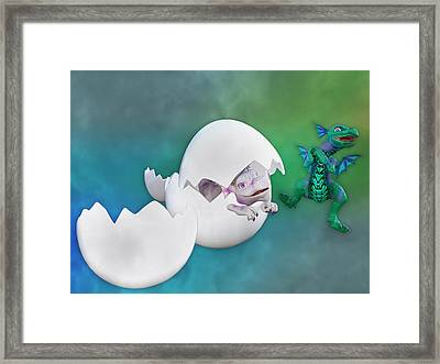 Benjamin And Beauty Framed Print by Betsy Knapp
