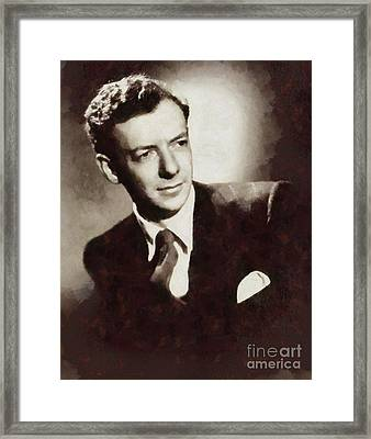 Benjamin Britten, Composer By Sarah Kirk Framed Print