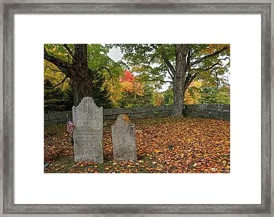 Benjamin Butler Grave Framed Print