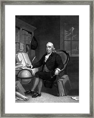 Benjamin Franklin -- The Scientist Framed Print by War Is Hell Store