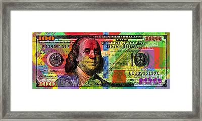 Benjamin Franklin $100 Bill - Full Size Framed Print