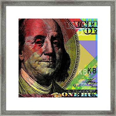 Benjamin Franklin - $100 Bill Framed Print