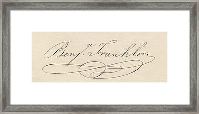Benjamin Franklin, 1706-1790 Framed Print
