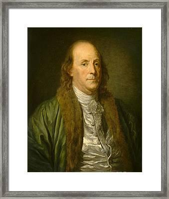 Benjamin Franklin Framed Print by After Jean-baptiste Greuze