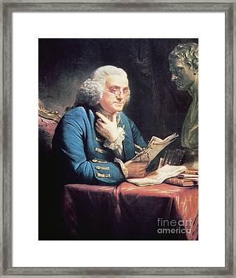 Benjamin Franklin Framed Print by American School