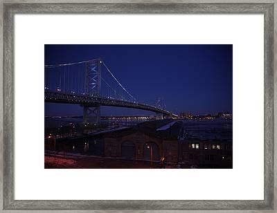 Benjamin Franklin Bridge Framed Print