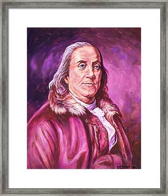 Benjamin Franklin Framed Print by Ed Breeding