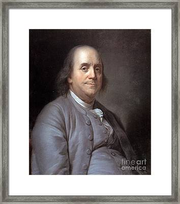 Benjamin Franklin Framed Print by Granger