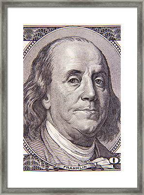 Benjamin Franklin Framed Print by Les Cunliffe