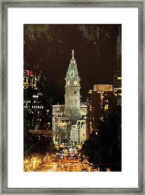 Benjamin Franklin Parkway Framed Print by Marvin Spates
