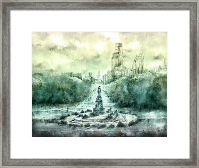 Benjamin Franklin Parkway Framed Print by Bekim Art