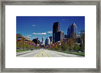 Benjamin Franklin Parkway - Philadelphia Framed Print by Mountain Dreams