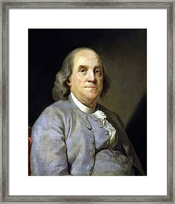 Benjamin Franklin Painting Framed Print