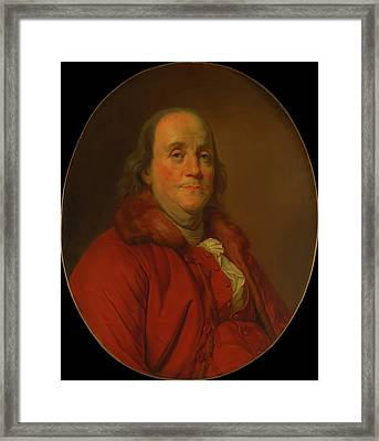 Framed Print featuring the painting Benjamin Franklin by Workshop Of Joseph Duplessis