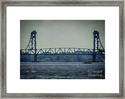 Benjamin Harrison Memorial Draw Bridge Framed Print by Melissa Messick