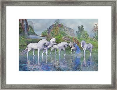 Benjamin's Velveteen Horses Framed Print