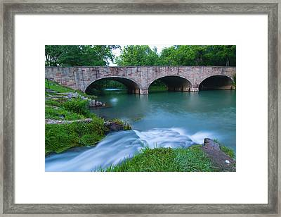 Framed Print featuring the photograph Bennett Spring by Steve Stuller