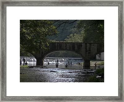 Bennett Springs Bridge Framed Print by Julie Grace