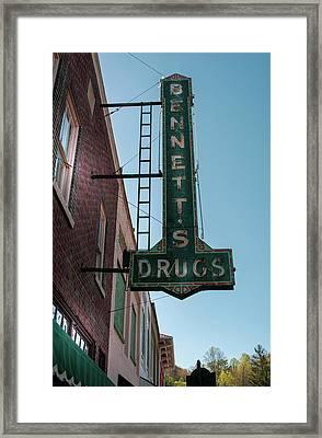 Bennett's Drugs Framed Print