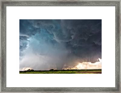 Bennington Kansas Tornado Structure Framed Print