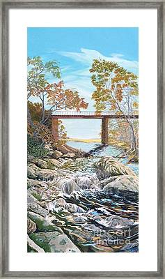 Bennington Riverbed Framed Print