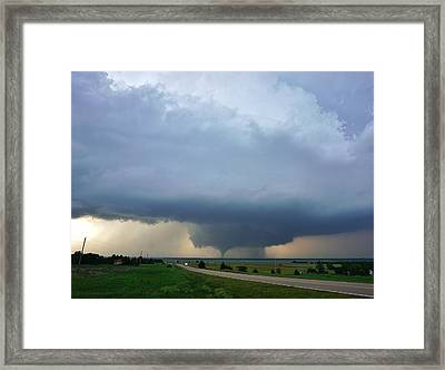 Bennington Tornado - Inception Framed Print by Ed Sweeney