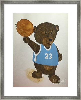 Benny Bear Basketball  Framed Print by Tamir Barkan