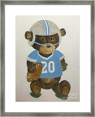 Benny Bear Football Framed Print by Tamir Barkan