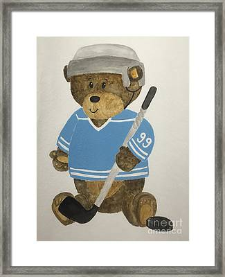 Benny Bear Hockey Framed Print by Tamir Barkan